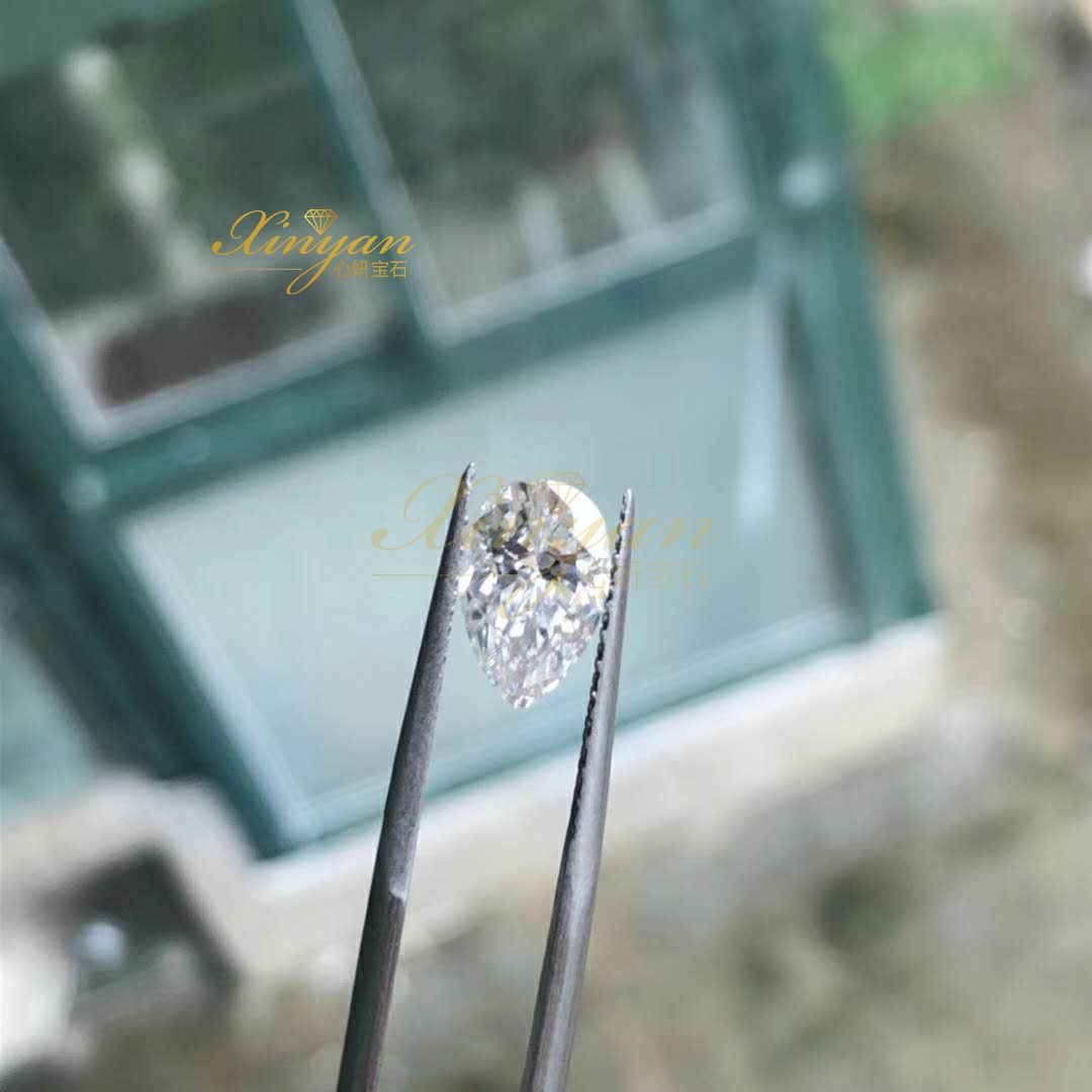 Xinyan Gems moissanite pear  factory wholesale in stock