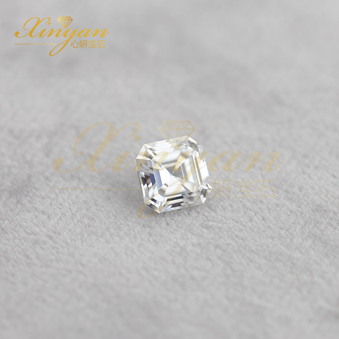 asscher cut moissanite china factory wholesale price